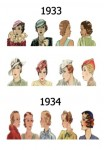 Hats and Hair Styles 1933 -1934