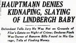 Hauptmann Lindbergh Trial Headline