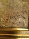 Closeup of signature