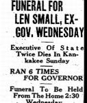 Len Small Funeral